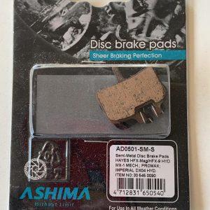 Pastiglie freni a disco Ashima AD0501 semi metalliche