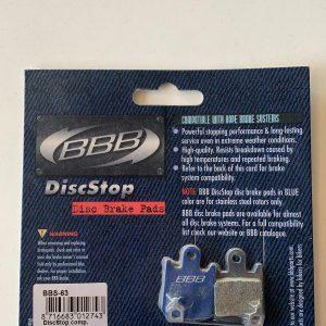 Pastiglie frenia disco BBB mod. BBS63