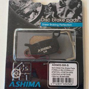 Pattini freni a disco Ashima AD0402 semi-metallica